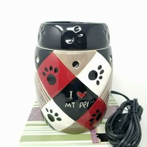"""Scentsy """"Paws"""" I Heart My Pet Full Size Wax Warmer"""